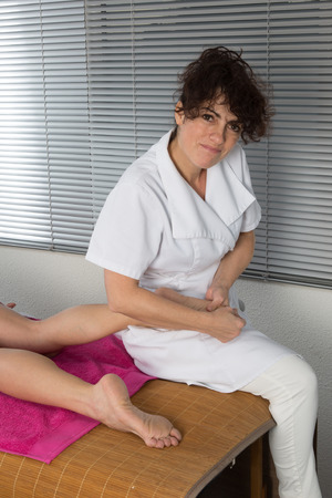 restore energy flow: A foot massage, spa foot oil treatment