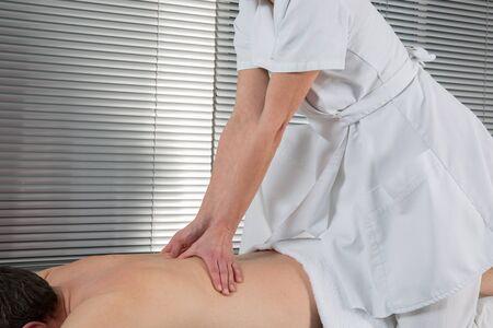 shiatsu: man having Shiatsu massage Stock Photo