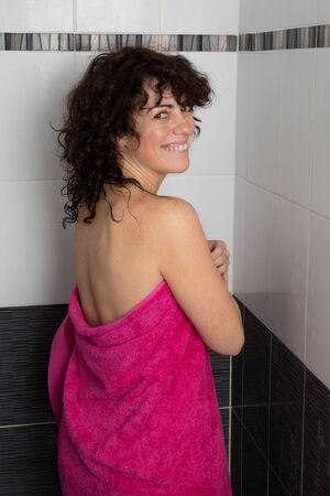 implied: Woman With A Drying Towel