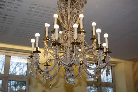 vintage chandelier: Vintage chandelier  clipping path