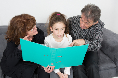 granddaughter: Grandparents and their granddaughter