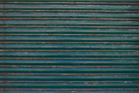 corrugated steel: An Old galvanized green steel -