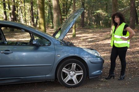 broken down: Female Driver Broken Down