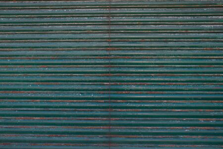 grooved: An Old galvanized green steel -  Dark green Background texture Stock Photo