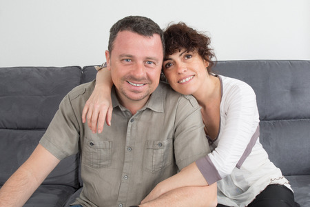 complicit�: Complicity of a Couple on sofa