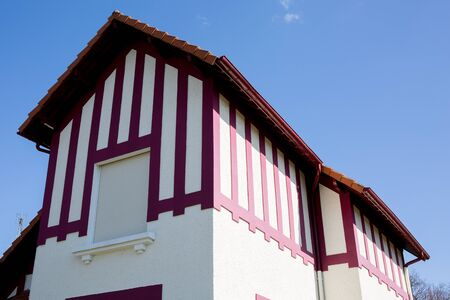 Typical Basque house in St Jean de Luz, Basque Country, France