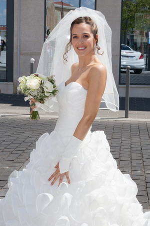 A nice and a beautiful bride photo