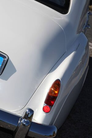 taillight: The Closeup of a taillight on a vintage car