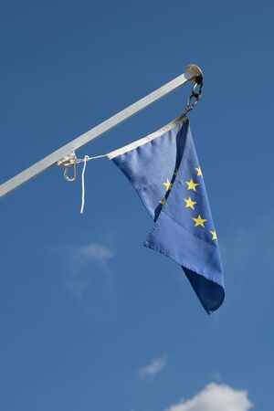 european economic community: European Union flags