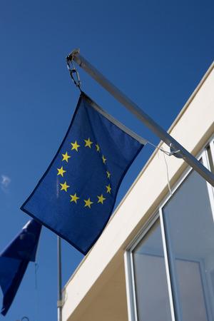 european economic community: European Union flags