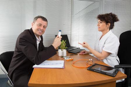antirheumatic: Man pharmaceutical Sales Representative
