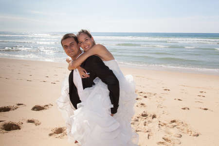 lovely couple: Lovely couple with wedding dress