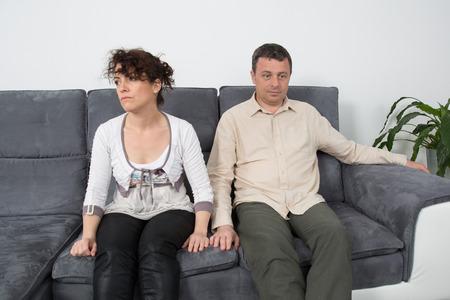 argument: Couple have an argument Stock Photo