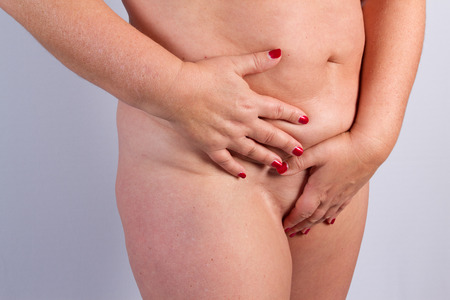 bellybutton: Body before a plastic surgery