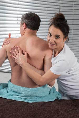 shiatsu: A man Receiving Shiatsu Treatment