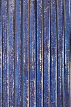 metalized: Grunge blue rusty scratched metal background