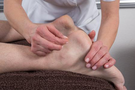 Man Undergoing Acupuncture Treatment Stock Photo