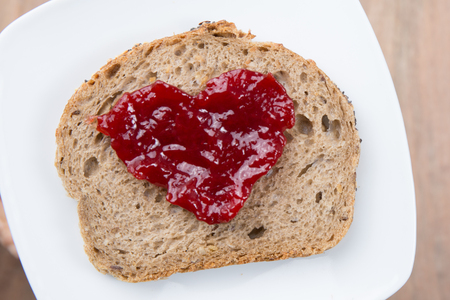marmelade: Heart shaped with marmelade - Love concept