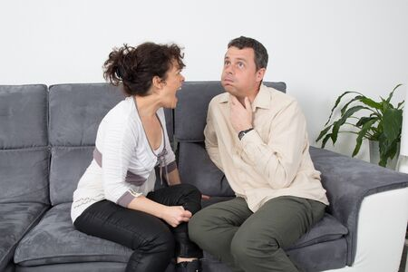 argumentation: Wife screaming at her husband