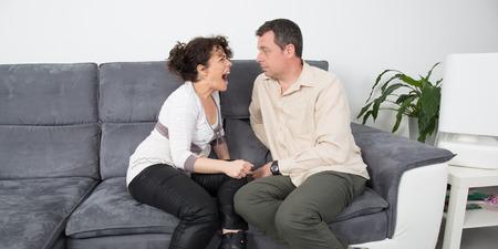 argumentation: Wife screaming at her husband