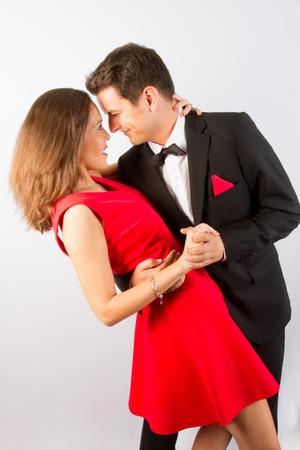Nice and Loving couple dancing photo