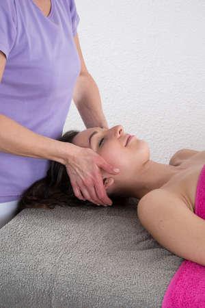 feminity: Shiatsu massage Stock Photo