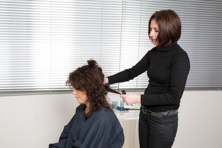 hairstyling: Hairstyling with hairdresser