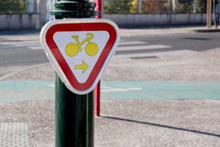 urbanism: New Sign of bicycle lane in France