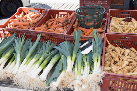 Fresh and organic vegetables in the market
