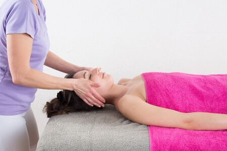 feminity: lovely girl in massage