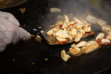 gastronome: The Chinese Chef making Iron Squid on the plancha