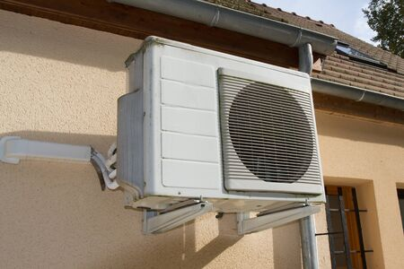 air conditionner unit on the wall Banco de Imagens