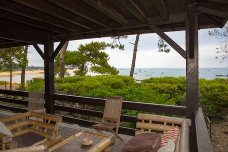 beach front: Beautiful Private terrace at the beach front
