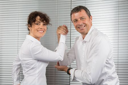 parity: Business people and professional parity at office Stock Photo