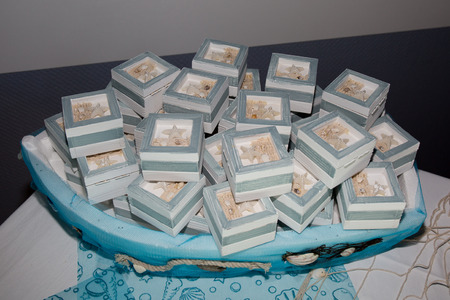 Present for guess during wedding day with sugared almonds