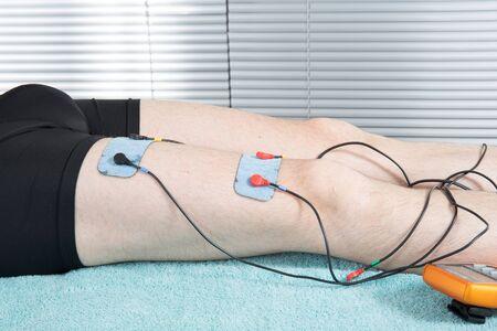 the weakening: Close-up Of Electrodes On body