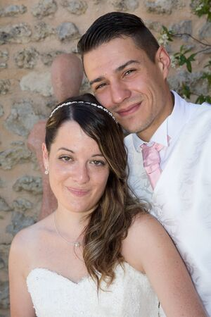 wedding couple: Cute and lovely wedding couple