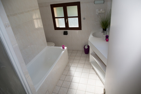 nicely: Nicely decorated modern white  washroom,