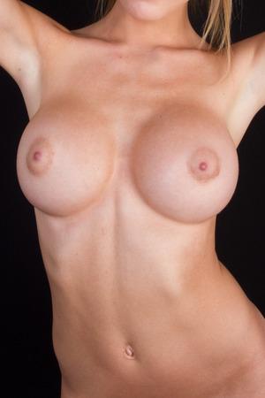 Mode fille blonde aux gros seins Banque d'images - 42862762