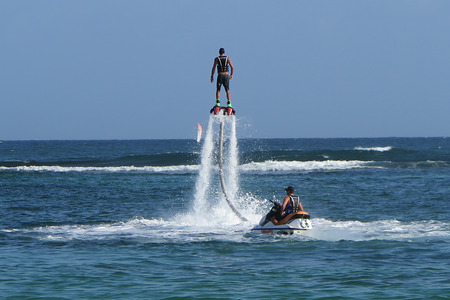 The new spectacular extreme sport called flyboard