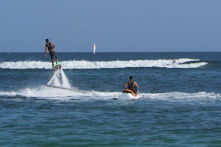 jet skier: The new spectacular extreme sport called flyboard