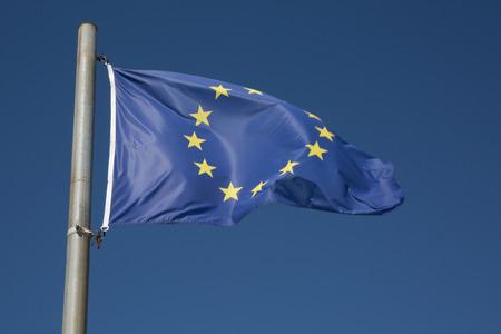 europe closeup: flag of europe union closeup