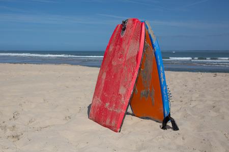bodyboard: Bodyboard on the sand at simmertime