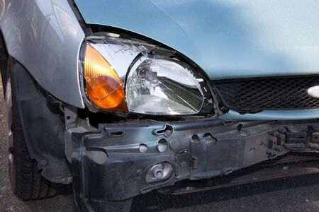 collision: damaged cars after collision