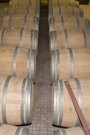 ferment: Wine Cellar with Rusty Wooden Barrels