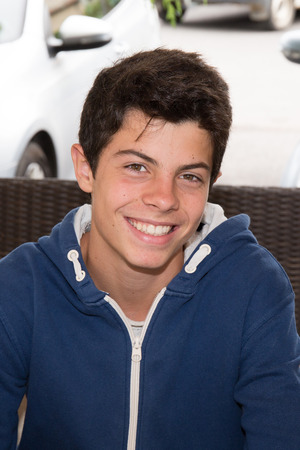 Portait of a young man,  teenager smiling Stockfoto