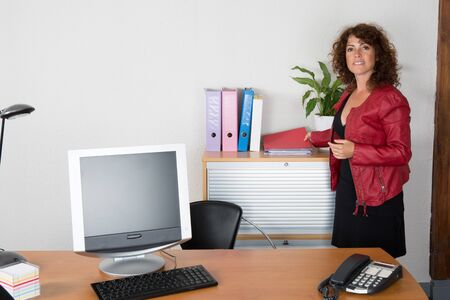 buisness woman: Woman at work happy to work