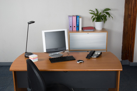 clean office: modern office interior with nobody