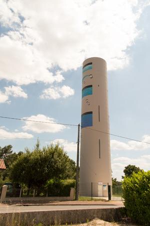 municipal utilities: Modern Suburban Water Tower