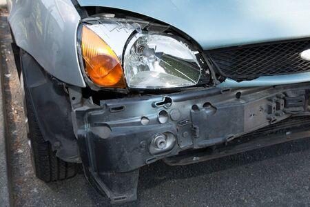 damaged cars: damaged cars after collision